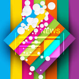Good news abstract colorful background. With news icon and bubbles Royalty Free Stock Photos