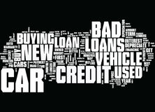 Good News About Bad Credit Car Loans Word Cloud Concept. Good News About Bad Credit Car Loans Text Background Word Cloud Concept Stock Photography