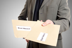 Good news bad news envelopes Stock Photography