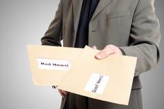 Good news bad news envelopes Stock Photography