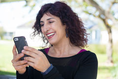 Good news on cell phone royalty free stock image