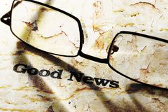 Good news. Close up of Good news concept Royalty Free Stock Images