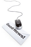 Good News and computer mouse Stock Photos