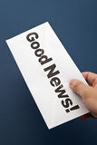 Good News and envelope Stock Photo