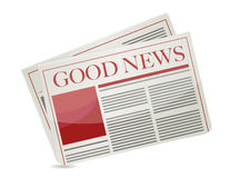 Good news newspaper illustration design Royalty Free Stock Photo