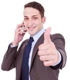 Good news on the phone Royalty Free Stock Photos