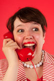 Good news on the phone Royalty Free Stock Image