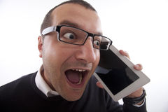 Good News on the Phone Royalty Free Stock Photography