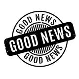 Good News rubber stamp. Grunge design with dust scratches. Effects can be easily removed for a clean, crisp look. Color is easily changed Stock Photography