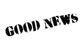 Good News rubber stamp. Grunge design with dust scratches. Effects can be easily removed for a clean, crisp look. Color is easily changed Stock Photo