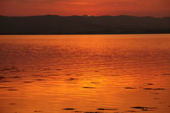 Good night. Sunset over Beauly Firth at Inverness in Scotland Royalty Free Stock Photography