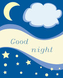 Good night. Children's picture with an inscription Good night Royalty Free Stock Photography