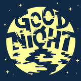 Good Night Artistic Cool Comic Lettering. Royalty Free Stock Photo