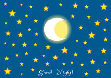 Good night background Stock Photos