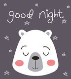 Good Night Bear Royalty Free Stock Images
