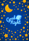 Good Night Bed Time Illustration Royalty Free Stock Photo