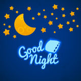 Good Night Bed Time Illustration Royalty Free Stock Images