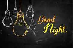 Good Night Bulbs Background Royalty Free Stock Photos