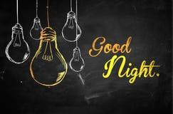 Good Night Bulbs Background. Digital art Royalty Free Stock Photos