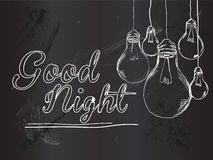 Good Night Bulbs Vector Background Royalty Free Stock Photography