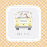 Good night card1 Stock Image