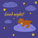 Good night card. Stock Image