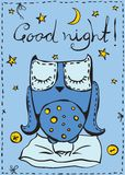 Good night card Royalty Free Stock Photography