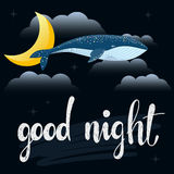 Good night card template. Royalty Free Stock Photo