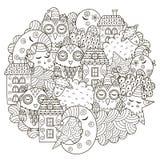 Good night circle shape pattern Royalty Free Stock Photos