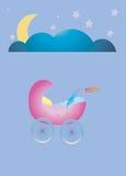 Good Night Cradle. Illustration of a good night time Vector Illustration