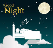 Good night design Stock Photography