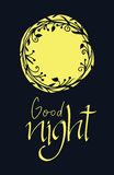 Good night design card Royalty Free Stock Photography