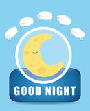 Good Night design. Good Night digital design, vector illustration 10 eps graphic Stock Images