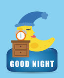 Good Night design Royalty Free Stock Photos