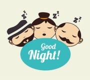 Good night design Royalty Free Stock Photo