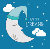 Good night design Stock Photos