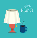 Good night design Royalty Free Stock Images