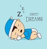 Good night design Stock Images