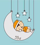 Good night design Stock Image