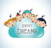 Good night design Stock Images