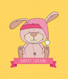 Good night design Stock Image