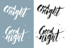 GOOD NIGHT - drawn by ink and brush Royalty Free Stock Images