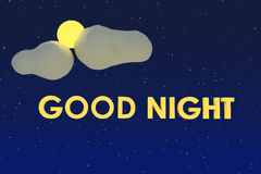 Good Night Royalty Free Stock Images