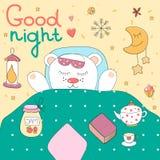 Good night illustration. Royalty Free Stock Photos