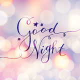Good night lettering Royalty Free Stock Photo