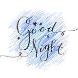 Good night lettering Stock Image