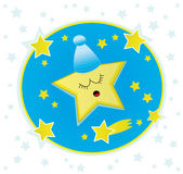 Good night, little star! Royalty Free Stock Image
