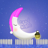 Good night with moon Stock Image