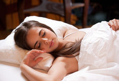 A good night's sleep. Stock Photo