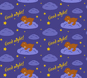 Good night seamless pattern. Stock Photography